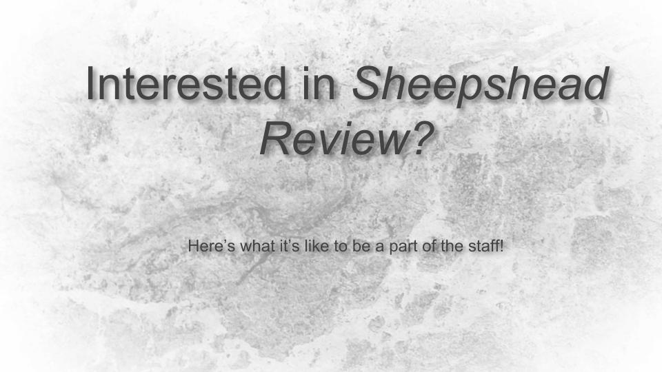 What is it like to be involved in Sheepshead?