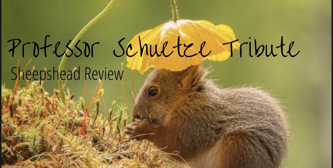 Spring 2021 Issue: In Memory of Professor Schuetze